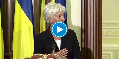 Embedded thumbnail for Крістін Лагард про підтримку реформ в Україні